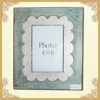 Shabby chic wooden photo frame picture