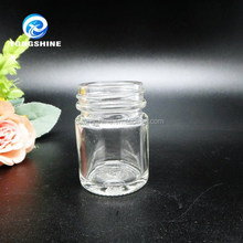 25ml cosmetic or make-up cream empty clear container glass jar or bottle round shape screw cap