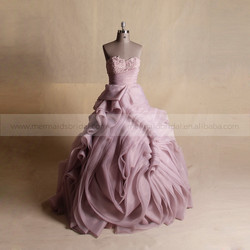 Noble Applique Lace Attractive Ruffle Skirt Sweet Heart Evening Dress Ball Gown