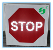 electronic Solar powered LED STOP road traffic signs & signals