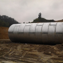 highway culvert pipe, assembled corrugated arch plates, corrugated steel pipe