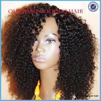 cheap curl natural black 100% human hair u part wigs with bangs hair pad grace hair products upart wigs