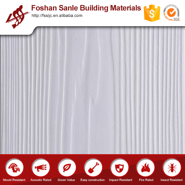 Heat Resistant Water Proof Wood Grain Fiber Cement Board