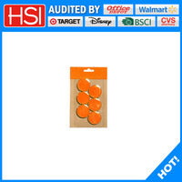 best price colorful round magnet plastic coated for whiteboard