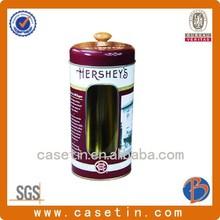 Chinese tea tin box container/large tin cans/metallic box