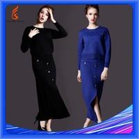 Long Sweater Sets Winter Dresses Ladies Knitwear