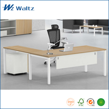 Best price commercial office furniture I shape CEO office desk with cabinet manager executive wooden office desk