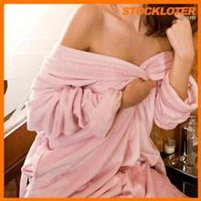 Ladies Jacquard Coral Fleece Bathrobe with Silk Thread stock 150308-511