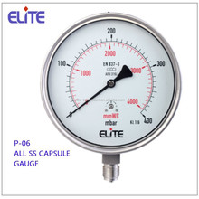 P-06 Full SS capsule pressure gauge manometer gauge