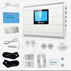 TENS Unit and Muscle Stimulator with AC Adapter, Carrying Case, & Electrodes Included