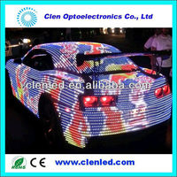 clenled ws2801 addressable rgb led strip for cars DC12V EMAIL sales1@clenled.com