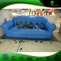 Guangzhou Hongyi Custome 6m Beauty Blue Giant Outdoor Inflatable Sofa Model For Sale