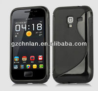 High quality s line soft rubber cover for samsung galaxy ace plus s7500