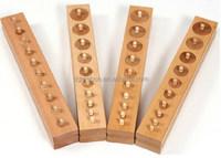 Wooden toys educational building blocks Montessori toys Socket cylinder toys
