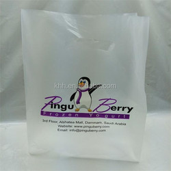 HDPE High Tensile Custom Prinitng Die Cut Plastic Shopping Bag