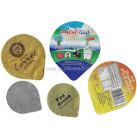 Pre-cut aluminium foil lid for yogurt plastic cup,Embossed pre-cut aluminum foil covers