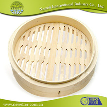 Chinese 1 layer bamboo steamer lfgb test report with Color Box