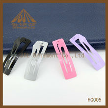 Nickel plated flat metal hair clip alligator clip accessories