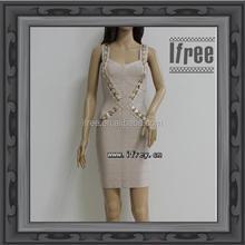 2015 Fascinating Nude Fashion Bodycon Evening Dress