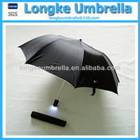 Folding LED umbrella/2 fold torch handle umbrella