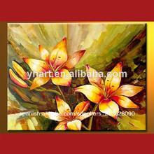 Modernos pinturas de flores hechas a mano