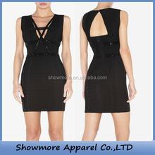 Style number N074 beading beautiful mature women bandage dress