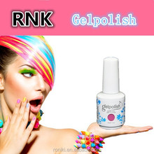RNK fashion different 135 colors natural uv gel nail polish for nails care 15ml free samples
