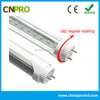 energy saving t8 led fluorescent tube with rotatable endcaps