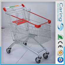 "shopping cart/5"" inches pu wheels supermarket shopping trolleys/where to buy grocery cart"