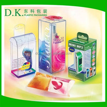 Eco-friendly food grade clear plastic box gift