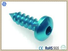 Aluminium screw, anodized aluminium color screw, anodized aluminium screw