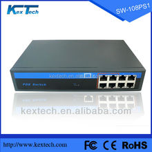 10 years big manufacturer 8 port 15.4W Fast network 48v POE ethernet switch 10/100Mbps