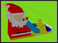 Inflatable Christmas slide inflatable dry slide Christmas Santa inflatable slide