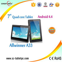 China bulk wholesale and custom tablet manufacture 7 inch quad core android 4.4 only need $23