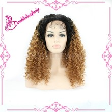 Kinky curly js and company wig for black women ombre 180%density kinky curly wig wholesale free wig catalogs