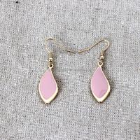 Fashionable enamel alloy tear earrings