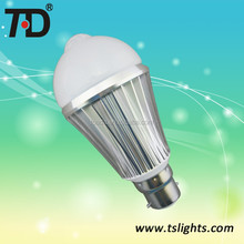 6W PIR motion sensor LED bulbs for public areas, like corridors, porches