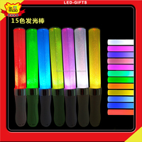 USA Wholesales Christmas Gifts LED Glow Stick With 15Color Super Bright Concert LEDFlashlight Stick