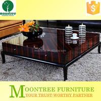 Moontree MCT-1104 High Quality Living Room Furniture Ebony Wood European Style Coffee Table