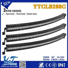 288W, 50 inch double row led light bar, one rows, two rows, offroad,4x4 light bar ,10W, Work/Spot/Day/Fog for Truck