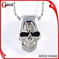 cheap stainless steel jewelry pendant mounts skeleton pendant necklace notrh skull