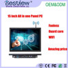 "OEM 15"" industrial touch panel all in one PC with DC 12V"