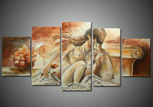 Hot sale chinese nude girl painting