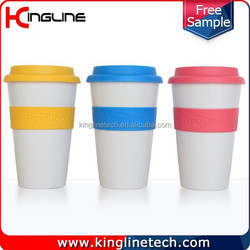 500ml silicone coffee cup with silicone band and cover ODM (KL-CP004)
