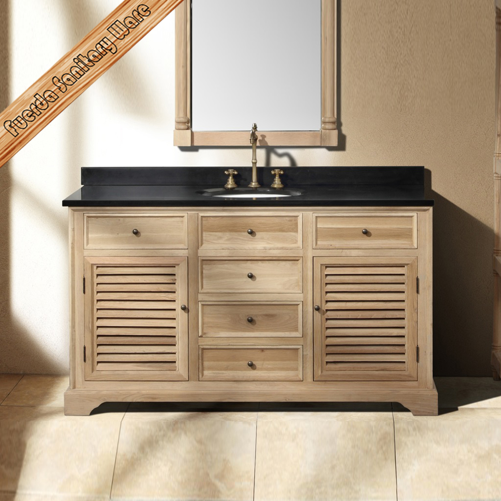 New design oak wood transitional solid wood bathroom cabinet vanity fed 1590 buy tranisitional Solid wood bathroom vanities cabinets