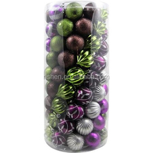 24/set barrelled printable christmas ball ornaments bulk unique potpourri decorative balls