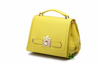 Omeal factory direct sales yellow high quality tote bag PU leather lady's hand bag M-M17 large stock fast shipping