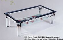 2012 popular commercial furniture fancy glass table