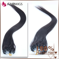 Aliexpress wholesale cheap top quality micro ring hair extensions for blacks