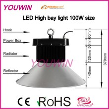Brightnesss 5 years warranty long life 100w led high bay hanging lights